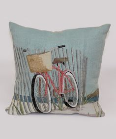 11.99-BY BRENTWOOD ORIGINALS Nantucket Bicycle Throw Pillow   zulily
