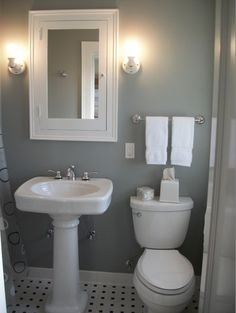 Love this bathroom color for downstairs powder room