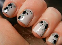 Polka Dot Nail Art is in trend these days. In case you actually need some thing amazing for your nails, without considering complex. Dot Nail Art, Polka Dot Nails, Polka Dots, Love Nails, Fun Nails, Style Nails, Nail Manicure, Nail Polish, Manicure Ideas