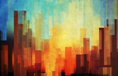 Art I Like: Urban sunset Art Print