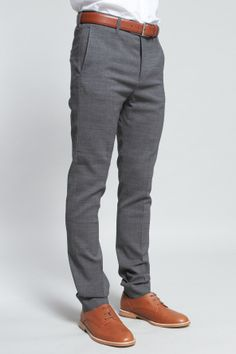 Shop for Acne Studios Pants for Men | Drifter Suit Pant in Grey | Incu | Raddest Men's Fashion Looks On The Internet: http://www.raddestlooks.org