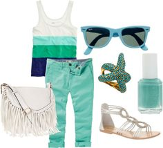 """Blue Summer"" by carlygracek on Polyvore"
