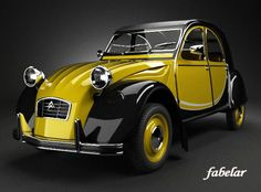2cv6, Yellow Fever, Unique Cars, Hot Cars, Cars And Motorcycles, Vintage Cars, Classic Cars, Automobile, Vehicles