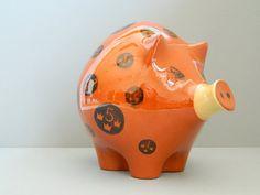 Rorstrand Sweden Ceramic Piggy Pig Bank by MonkiVintage on Etsy, $72.00