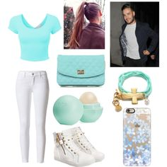 blue and white Liam by the-older-sister on Polyvore featuring polyvore fashion style 3AM Imports Casetify Eos