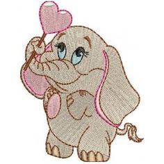 Matriz de bordado Elefantinho 5 Baby Applique, Embroidery Applique, Embroidery Patterns, Nursery Rhymes Songs, Free Machine Embroidery Designs, Baby Elephant, Baby Quilts, Cross Stitch, Embellishments