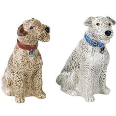 Cheer up your table setting in a flash with these adorable Stanley salt and pepper shakers.