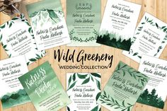 Wild Greenery Wedding Collection by Knotted Design on @creativemarket