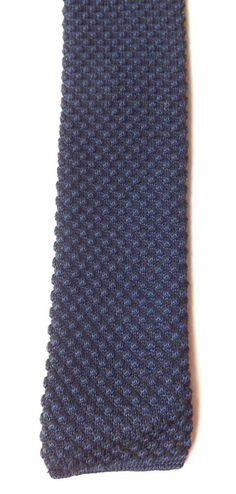 Vintage 1950s 1960s Knitted Skinny Neck Tie Black/Blue Mod Scooterist FREE P&P #NeckTie