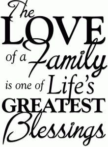 View Design: love of a family phrase (vinyl)