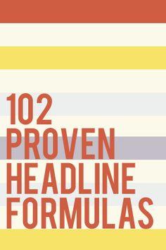 102 Proven Headline Formulas