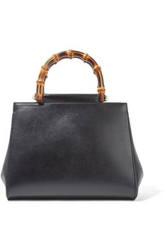 Gucci - Nymphaea Bamboo Small Leather Tote - Black - one size