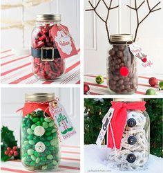 Obsequios+navideños+usando+frascos+de+vidrio