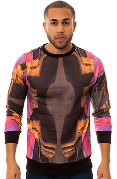 2012a510c58 The Egypt 2 Crewneck Sweatshirt in Mirrored Landscape Print