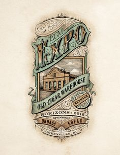 Behance :: Editing Old Cigar Warehouse Expo Victorian Vintage Illustration