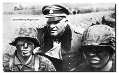 Sepp Dietrich with his charcoal-painted boys from the Hitler Youth Division