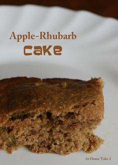 Apple-Rhubarb Cake w