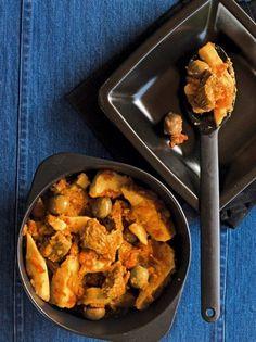 Μοσχαράκι με γλυκοπατάτες - www.olivemagazine.gr Weird Food, Greek Recipes, Main Dishes, Curry, Pork, Beef, Chicken, Ethnic Recipes, Kitchens
