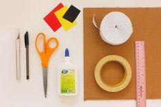 Hello Kitty Piñata | Sweet Happy News - Sanrio Yellow Paper, Red Paper, Black Paper, Hello Kitty Pinata, Crepe Paper Streamers, Masking Tape, Blog Entry, Sanrio, Things To Sell
