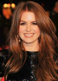 Medium dark auburn - Isla Fisher *** 25 celebrities that rock Auburn hair ***