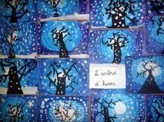 Image result for childrens art winter trees
