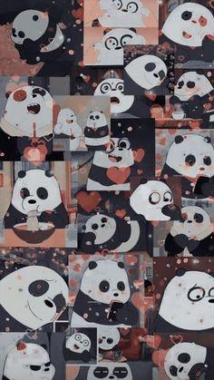 Cute Panda Wallpaper, Bear Wallpaper, Cute Patterns Wallpaper, Cute Disney Wallpaper, Kawaii Wallpaper, Wall Wallpaper, Butterfly Wallpaper Iphone, Purple Wallpaper Iphone, Cartoon Wallpaper Iphone