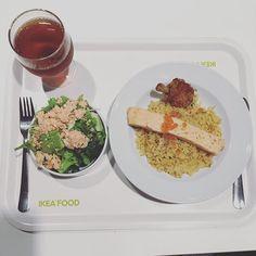 IKEAのサーモンづくしよくばり定食 #ikea #イケアレストラン