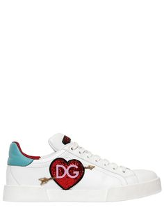 df6c9b706c6da5 Oh My Footwear! DOLCE   GABBANA - 20MM PORTOFINO LIGHT LEATHER SNEAKERS -  SNEAKERS - WHITE MULTI -