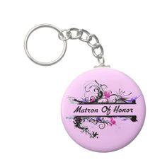 Matron Of Honor Key Chain #maidofhonor #weddings #gifts #keychain