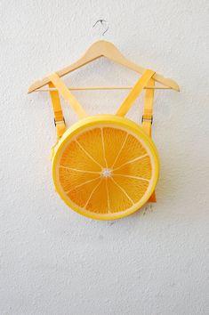 90s plástico Kawaii frutas 3D amarillo limón por AfterDarkVintage