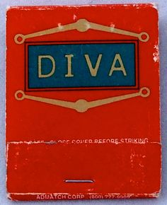 Diva Lounge  341 West Broadway  Soho NYC USA 20 stem #matchbook - To Order Your Business' own branded #Matchbooks and #Matchboxes call 800.605.7331 or GoTo: www.GetMatches.com. Today!