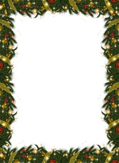 Lots & Lots of free clipart!!  Lots of Frames!!  Christmas Holiday Frame With Garland