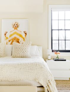 creamy textures in this simple master bedroom | house tour via coco kelley