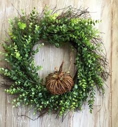 Fall Wreath Front Door Wreath Artificial by BlessMyNestShop