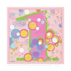 Colorful Bubbles 1st Birthday Party Invitation from Zazzle.com