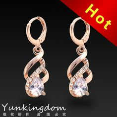 Find More Drop Earrings Information about Dropship Free shipping 18K Rose Gold Filled Fashion Design Hot Romantic Cubic Zircon Lady Women Earrings Dangler Jewelry  CZ0082,High Quality jewelry plate,China jewelry face Suppliers, Cheap jewelry business for sale from Dropshiproom on Aliexpress.com