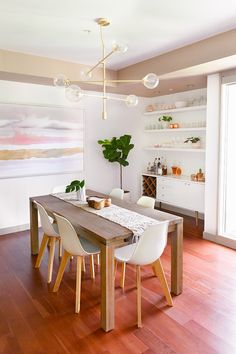 Kitchen / Dining Room / Bar Reveal in Partnership with HomeSense Canada Dining Room Bar, Dining Room Design, Kitchen Dining, Dining Chairs, Bar Kitchen, Open Kitchen, Dining Table, Mid Century Dining, Natural Home Decor