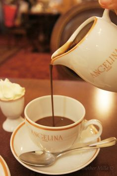 THIS is what you go to Cafe Angelina for. The Hot Chocolate is to die for! The best you will ever have in your life.