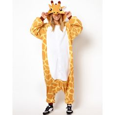 Kigu Giraffe Onesie ($42) ❤ liked on Polyvore featuring onesie and yellow