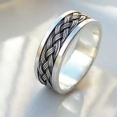 This is the widest version of my Celtic ring. Perfect as a mens wedding band, mens ring or unisex wide band ring. Made to order in your size. The - best mens jewelry, mens gold jewelry, mens rings jewelry Mens Silver Wedding Bands, Wedding Men, Wedding Ring Bands, Mens Celtic Rings, Celtic Wedding Rings, Silver Claddagh Ring, Sterling Silver Rings, Silver Jewelry, Silver Man