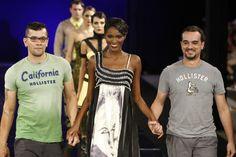 Estampas de Débora Iasbek (INDID) para Ronaldo Silvestre, desfile em Dragão Fashion, Fortaleza, inverno 2013.