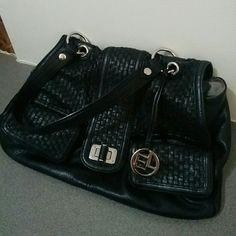 Selling this Like new black leather handbag - Elliott Lucca in my Poshmark closet! My username is: mm_scoz. #shopmycloset #poshmark #fashion #shopping #style #forsale #Elliott Lucca #Handbags