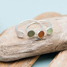 Autumn Sea Glass Ring by Simple Sea Glass $75