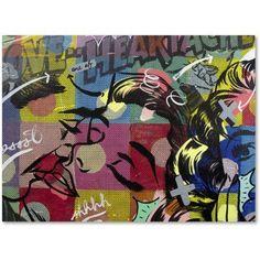 Trademark Fine Art Fearless Heartache Canvas Art by Dan Monteavaro, Size: 14 x 19, Multicolor