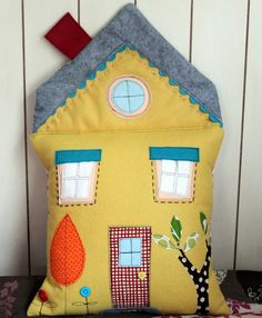 Felt House Pillow by maureencracknell, via Flickr