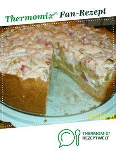Rhabarber-Baiser-Torte/-Kuchen von janeh. Ein Thermomix ® Rezept aus der Kategorie Backen süß auf www.rezeptwelt.de, der Thermomix ® Community.