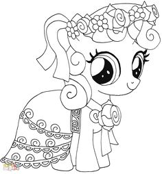 Silverspoon My Little Pony Coloring Page Mlp My Little Pony