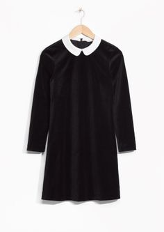 & Other Stories image 2 of Twiggy Velvet Dress  in Black