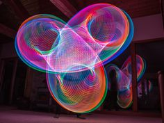 Hula Hoop Light Paintings by Grant Mallory and Maria Jacob