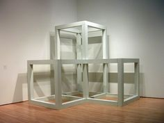 Sol LeWitt, Steel Structure, 1975/76, SFMOMA Steel Trusses, Colour Field, Steel Structure, Table, Furniture, Color, Home Decor, Art, Minimalism